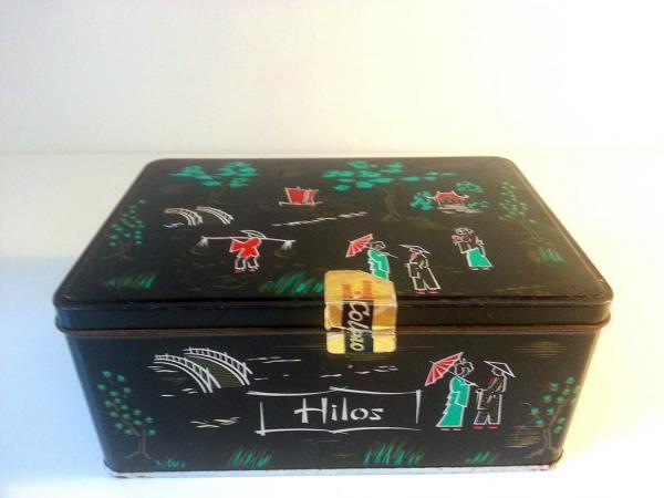"""[:es]Caja Cola Cao """"hilos""""    [:en]Antique Cola Cao box   [:]"""
