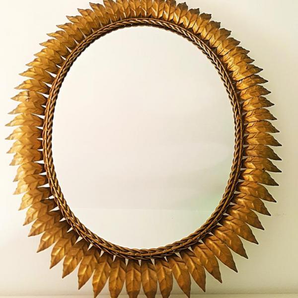 [:es]Espejo sol ovalado años 60[:en]60s oval sunburst mirror[:]
